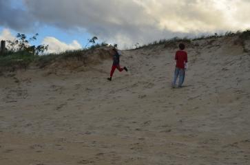 Enjoying the dunes at Castaway