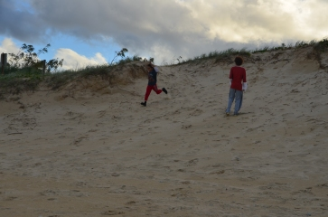 Enjoying the dunes at Castaway